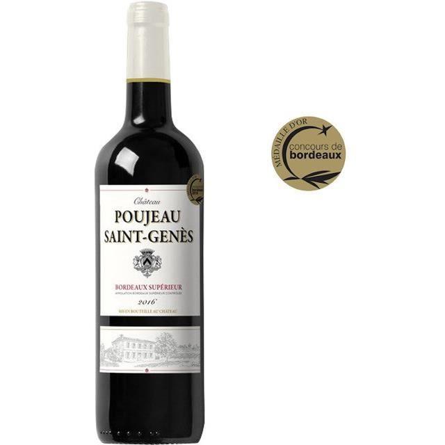 Château Poujeau Saint Genès 2016 Bordeaux Supérieur - Vin rouge de Bordeaux
