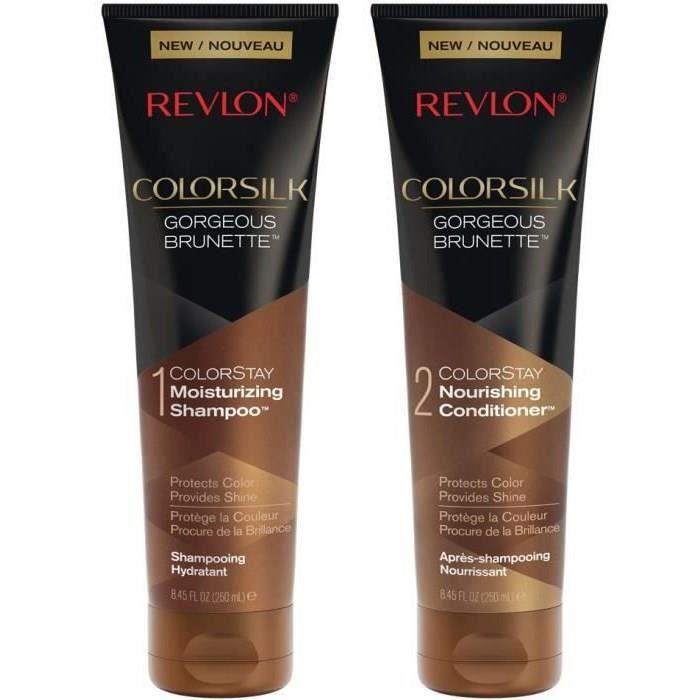 REVLON Duo Cheveux Châtains : Shampoing + Après-shampoing