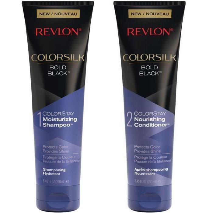 REVLON Duo Cheveux Noirs : Shampoing + Après-shampoing