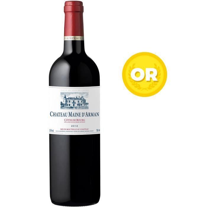 Château Maine d'arman 2014 Côtes-de-Bourg - Vin rouge de Bordeaux x1