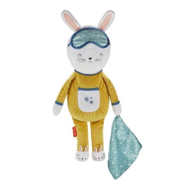 FISHER-PRICE Lapinou Compagnon Dodo - Peluche lapin avec musique et veilleuse - 18 mois et +