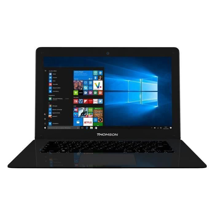 THOMSON PC portable NEO14C - 14,1'' Full HD 1920x1080 - 4Go RAM - Intel® Celeron™ - 64Go eMMC - Windows 10 - WiFi/Bluetooth - Noir