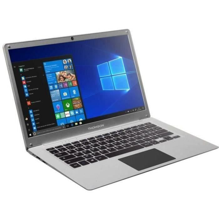 THOMSON PC Portable NEO14A - 14,1'' HD - INTEL® Atom™ Quad Core E8000 - 4 Gb RAM - 128 Gb SSD - Windows 10 - Silver