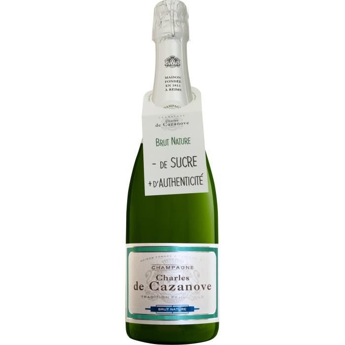 Champagne Charles de Cazanove Brut Nature - 75 cl