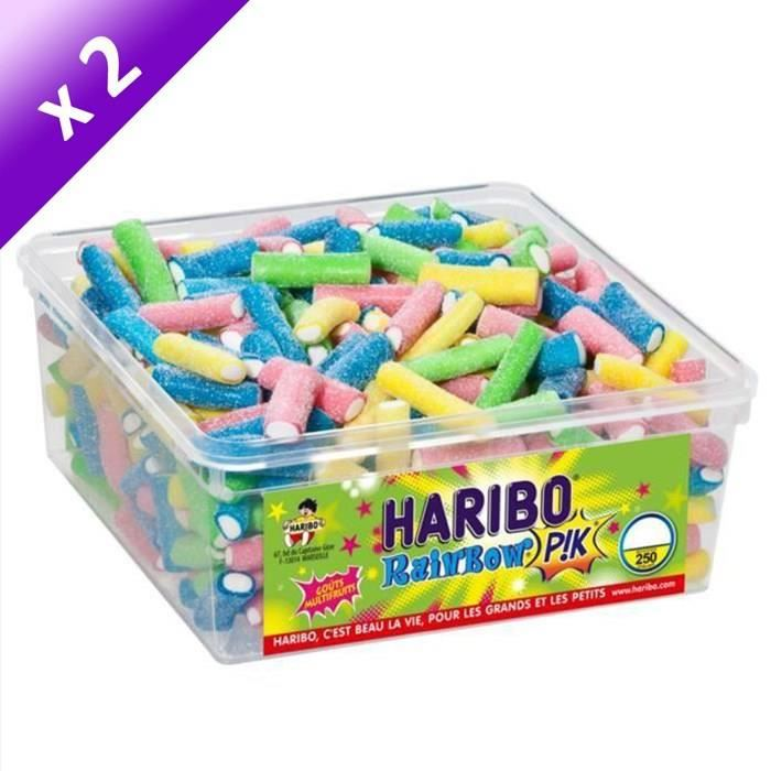 [LOT DE 2] HARIBO Bac 250 Rainbow Pik