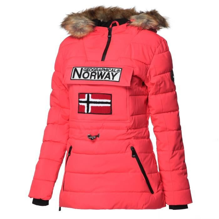 GEOGRAPHICAL NORWAY Parka Bougie 005 - Femme - Corail