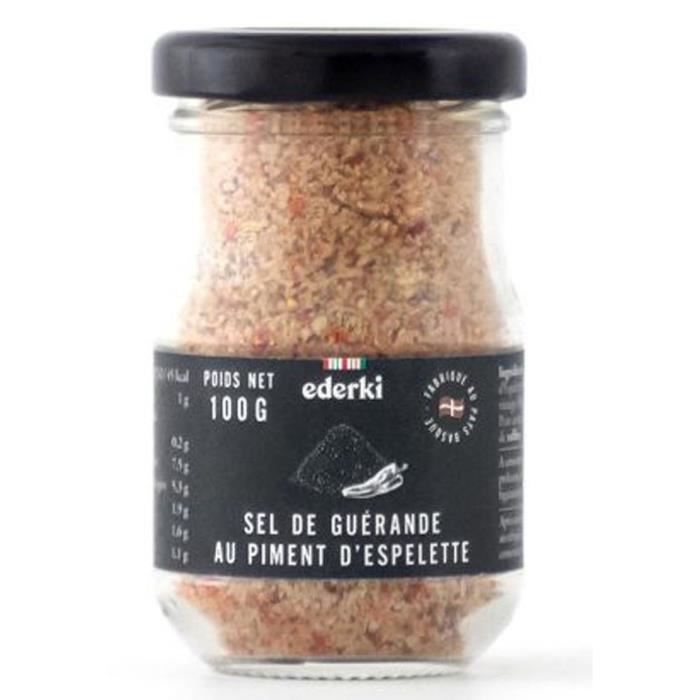 EDERKI Sel de Guérande au piment d'Espelette - 100 g