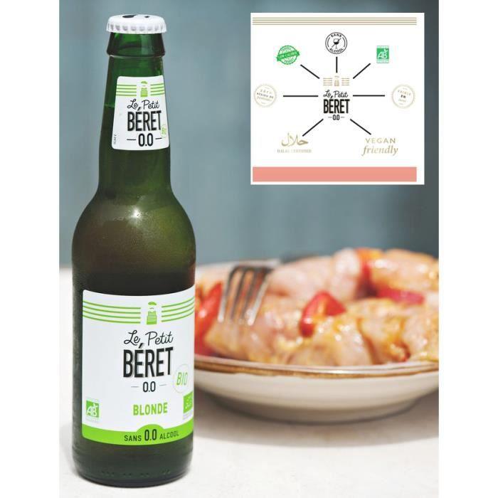 Le Petit Béret Bière Blonde sans alcool Bio 0.0% 3x33cl
