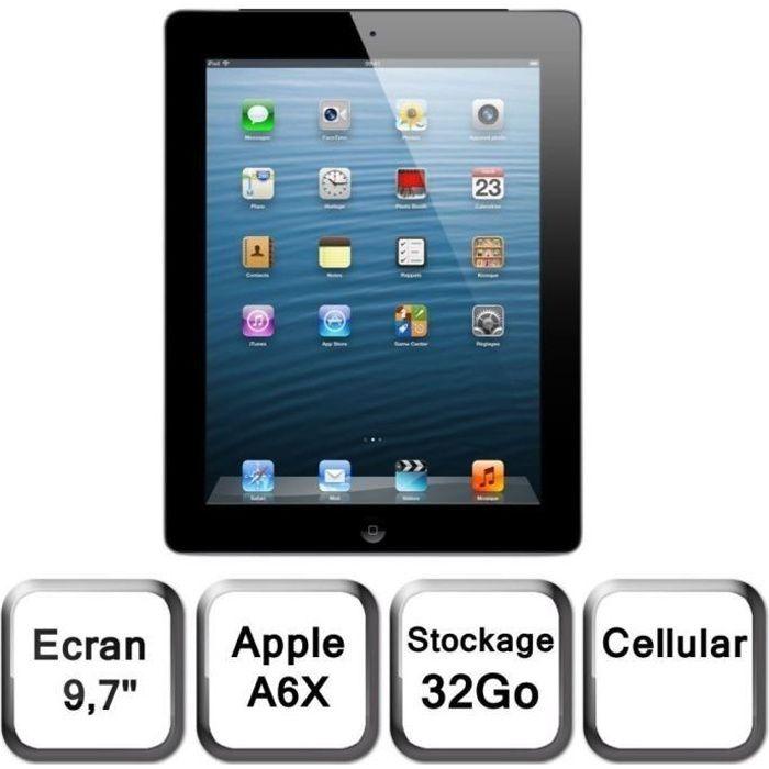 Apple Ipad écran Retina Wi Fi+Cellular 32Go Noir