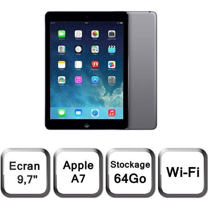 Apple Ipad Air 64Go Wi Fi Gris Sidéral
