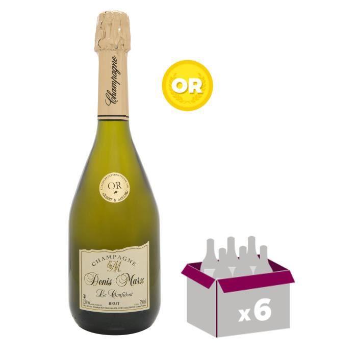 DENIS MARX Cuvée Le Confident Champagne - Brut - 75 cl x 6