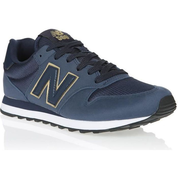 NEW BALANCE Baskets NB500 Bleu Marine/Or Mixte