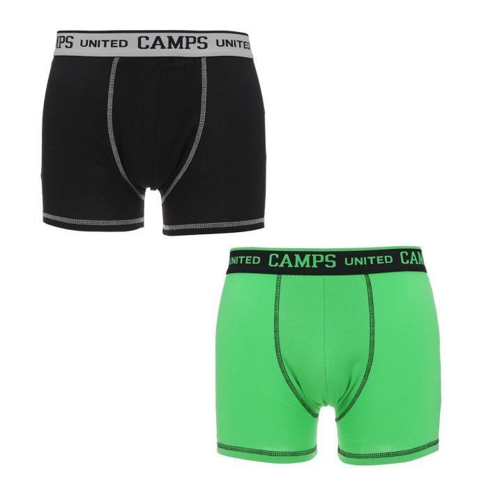 CAMPS Lot de 2 Boxers Vert et Noir Homme