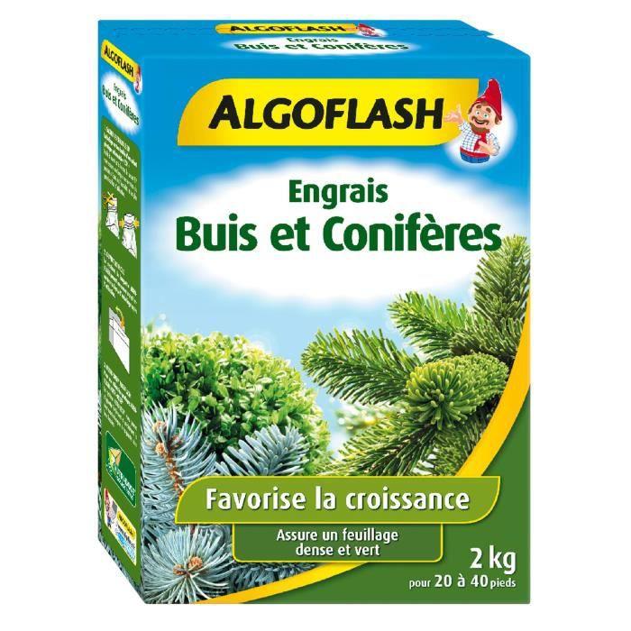 ALGOFLASH Engrais Buis et Conifères - 2kg