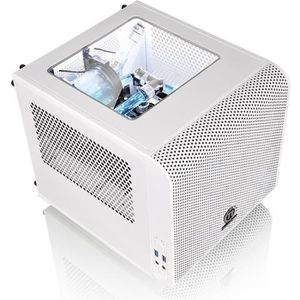 Thermaltake Boîtier PC Core V1 Snow Edition Blanc