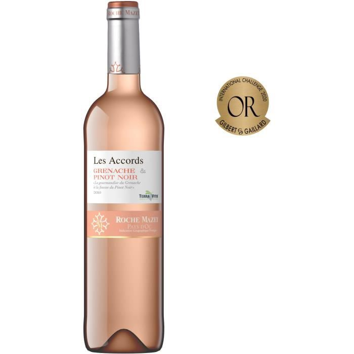 Les Accords de Roche Mazet Grenache & Pinot Noir 2019 Pays d'Oc - Vin rosé de Languedoc