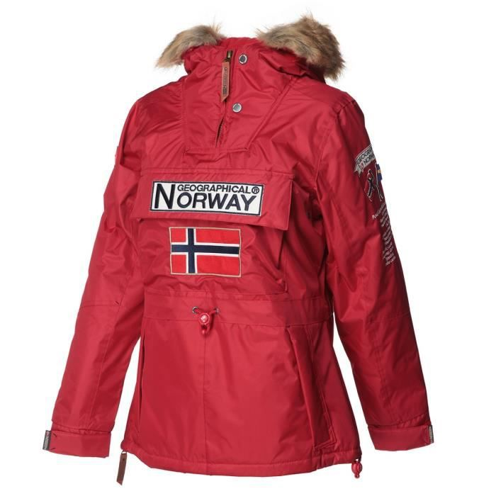 GEOGRAPHICAL NORWAY Parka Boomera New 056 - Femme - Rouge