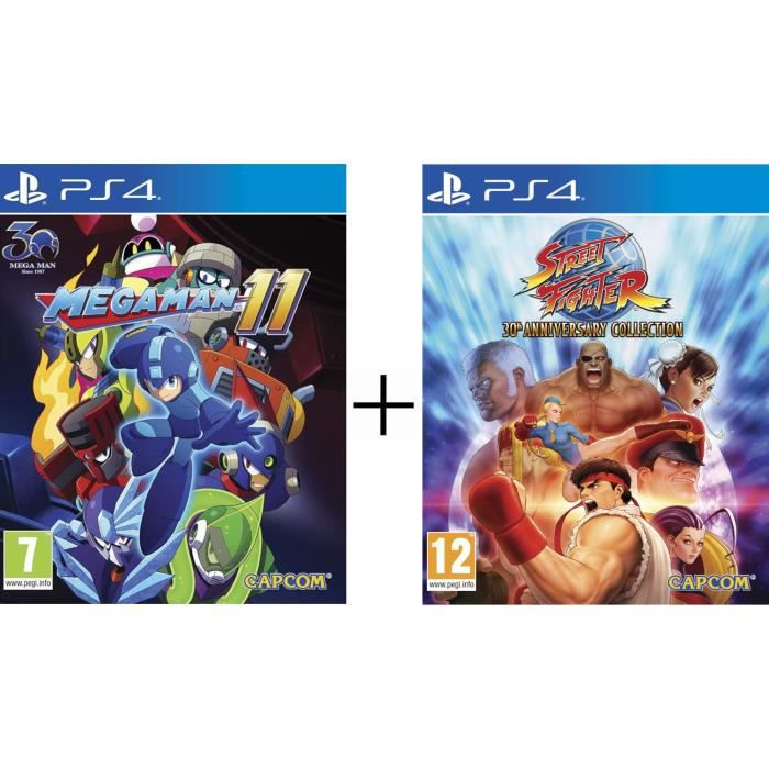 Mega Man XI + Street Fighter 30th Anniversary Collection Jeux PS4