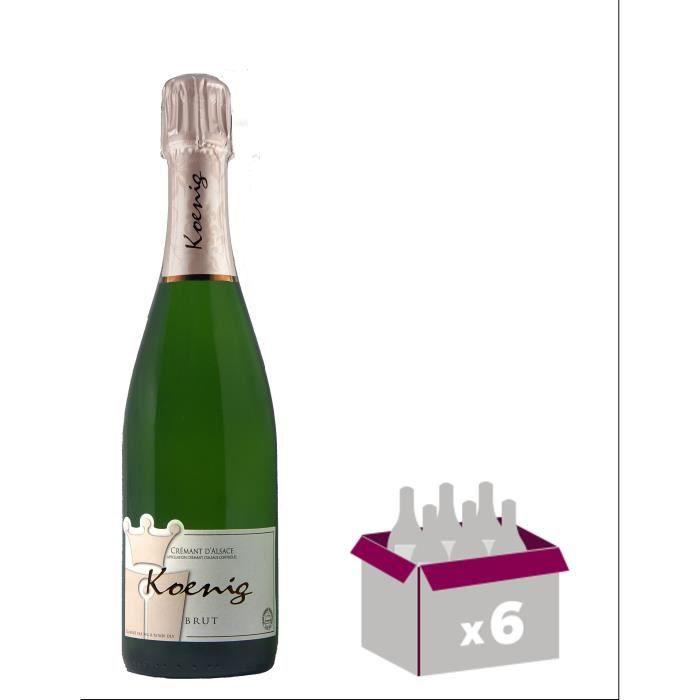 KOENIG Crémant d'Alsace Casher - Blanc - 75 cl - AOC - x6