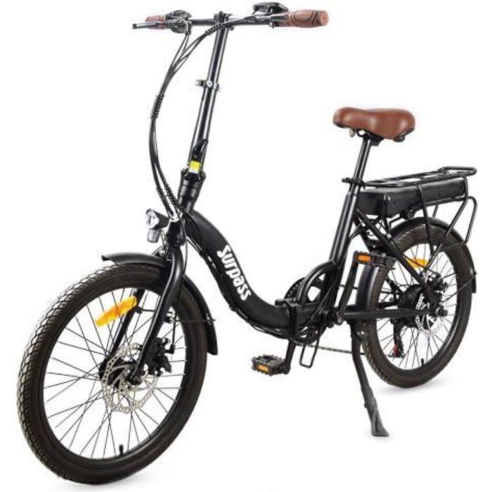 Vélo de ville Pliant électrique 20'' - Surpass - Noir