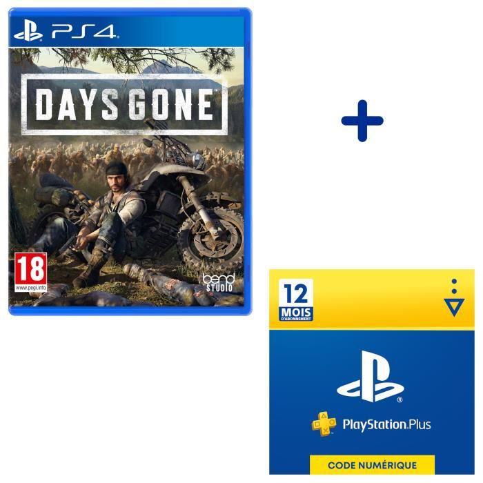 Pack PlayStation : Days Gone + Abonnement PlayStation Plus 12 Mois