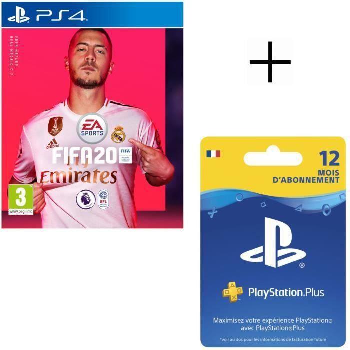 Pack PlayStation : FIFA 20 + Abonnement 12 Mois au PS+