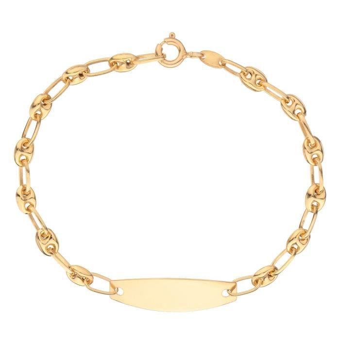LES BIJOUX D'EMMA Bracelet Identité Or Jaune 375° Enfant