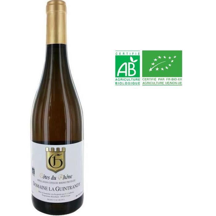 Domaine La Guintrandy 2018 Côtes du Rhône - Vin blanc des Côtes du Rhône Bio