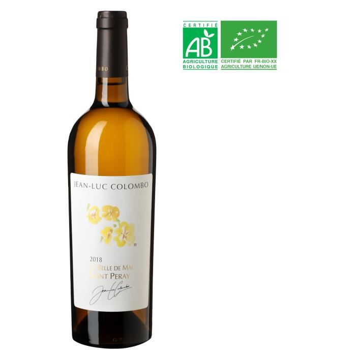Jean Luc Colombo La Belle de Mai 2018 Saint-Peray - Vin blanc de la Vallée du Rhône - Bio