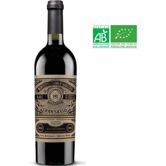 Gran Sasso 2019 Montepulciano d'Abruzzo - Vin rouge d'Italie - Bio