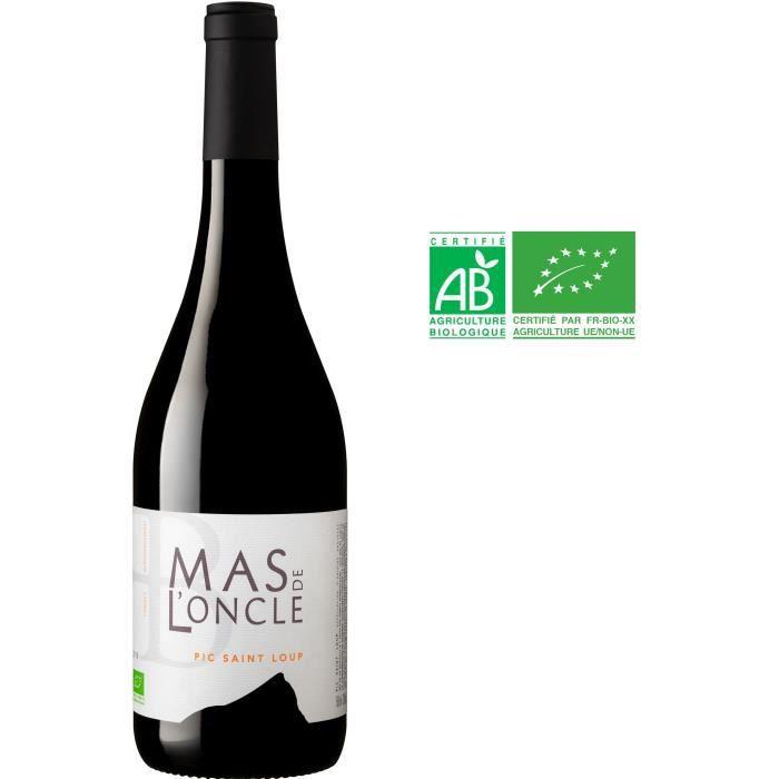 Domaine du Mas de l'Oncle 2019 Pic Saint Loup - Vin rouge de Languedoc-Roussillon - Bio