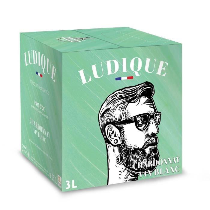 Ludique Chardonnay IGP Pays d'Oc - Vin blanc de Languedoc - Bib 3 L