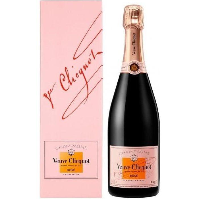 Champagne Veuve Clicquot Rosé avec étui - 75 cl
