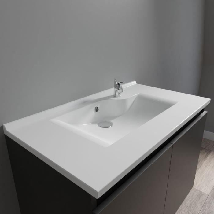 CREAZUR Plan simple vasque 80cm
