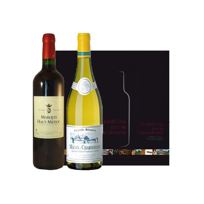 Coffret Duo Bordeaux Bourgogne Blanc & Rouge