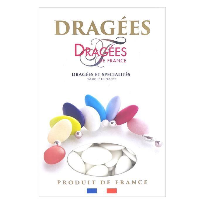 DRAGEES DE FRANCE Dragées aux Chocolats - Blanc - 70% de cacao - 1 kg