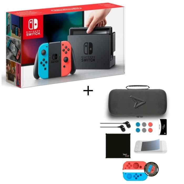 Pack nintendo switch néon pack daccessoires steelplay 11 en 1