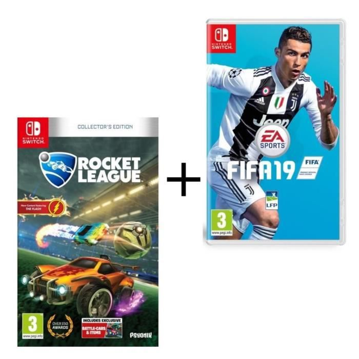 Pack 2 jeux switch : Fifa 19 et Rocket League Edition Collector