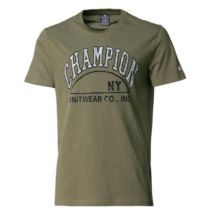 CHAMPION T-Shirt Tee-shirt logo Dark Green - Homme - Vert