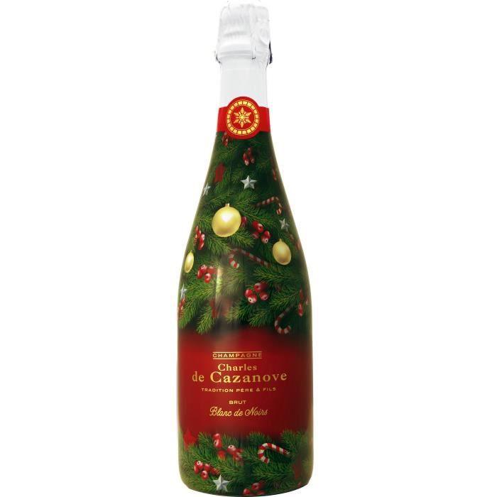 Champagne De Cazanove Edition limitée de Noël Blanc de noir
