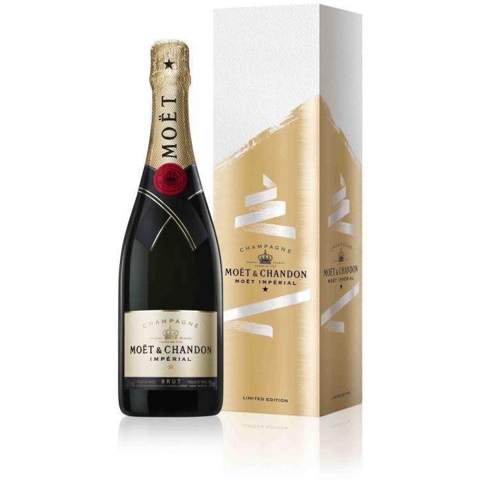 Champagne Moët et Chandon avec étui
