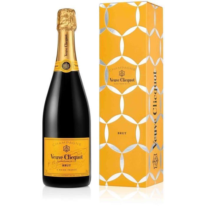 Champagne Veuve Clicquot Carte Jaune avec étui de Noël