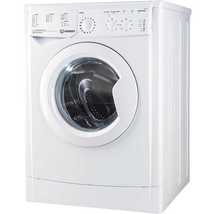 INDESIT IWC91282EC?U - Lave linge frontal - 9 kg - 1200 trs / min - A++ - Moteur induction