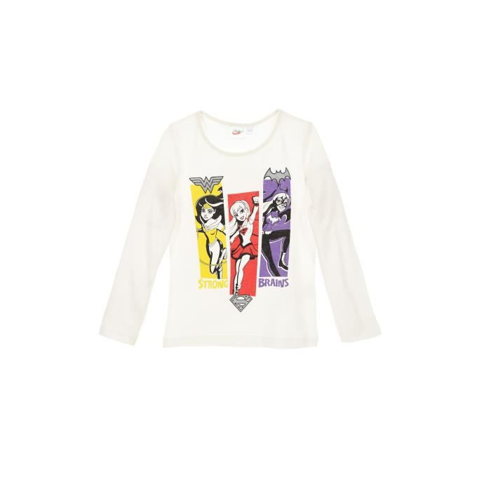 DC SUPER HERO GIRLS T-shirt Beige Écru Enfant Fille
