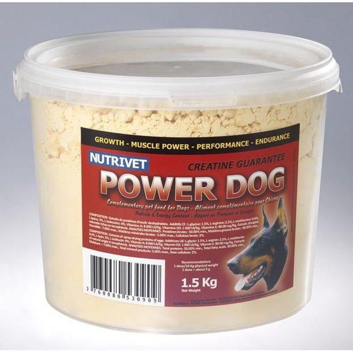 POWER DOG Complément alimentaire pour chiens sportifs 1,5 kg