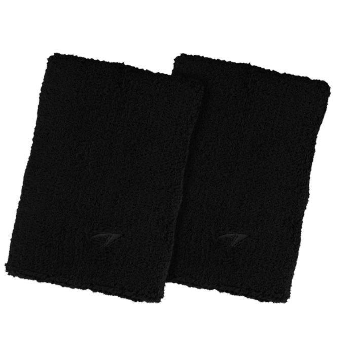 AVENTO Bracelets éponge coton x 2 - Noir