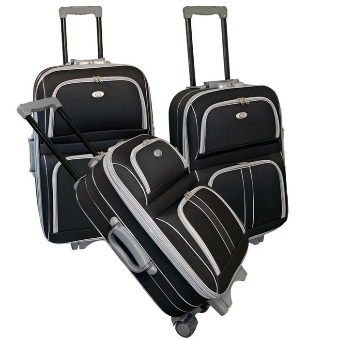 KINSTON Set de 3 Valises trolley 2 roues Silver