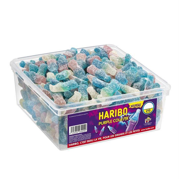 HARIBO Purple Cola Pik 210 pièces (x1)