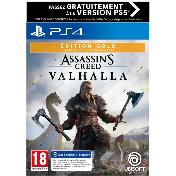 Assassin's Creed Valhalla Edition GOLD Jeu PS4 (Upgrade gratuit vers PS5)
