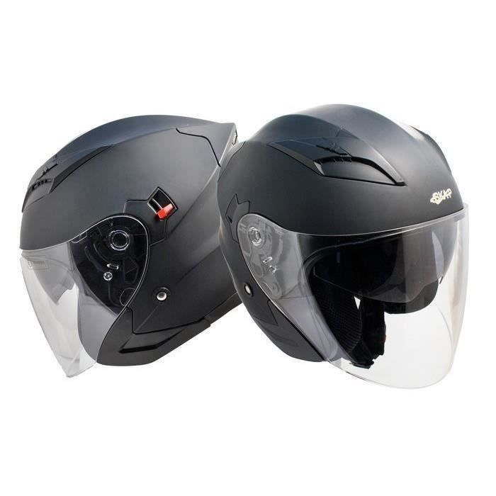 SKAP Casque Jet 1PH Bolt Noir Mat